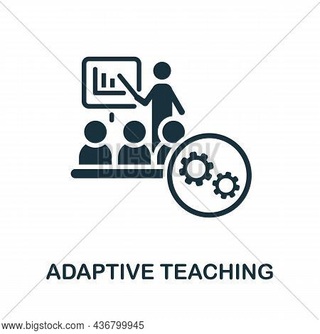 Adaptive Teaching Icon. Monochrome Sign From Creative Learning Collection. Creative Adaptive Teachin