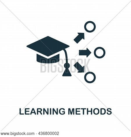 Learning Methods Icon. Monochrome Sign From Creative Learning Collection. Creative Learning Methods