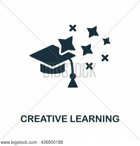 Creative Learning Icon. Monochrome Sign From Creative Learning Collection. Creative Creative Learnin
