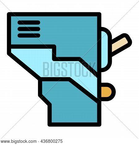 Electric Circuit Break Icon. Outline Electric Circuit Break Vector Icon Color Flat Isolated