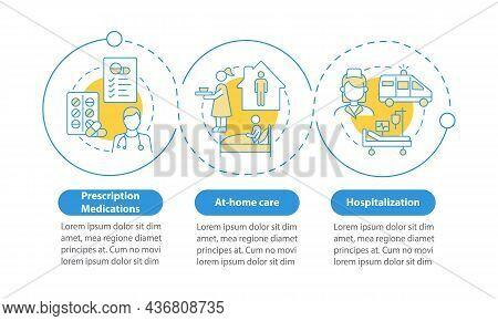 Treating Pneumonia Vector Infographic Template. Medications Presentation Outline Design Elements. Da
