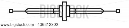 Art-deco Divider. Vintage Divide Ornament, Retro Text Line Border Design