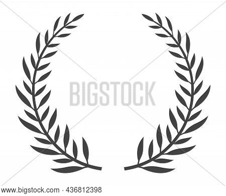 Classic Greek Wreath. Heraldic Wreaths Classic Style Painting Graphic