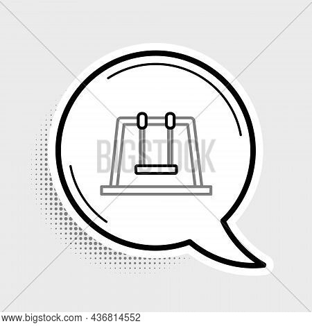 Line Swing Icon Isolated On Grey Background. Playground Symbol. Colorful Outline Concept. Vector