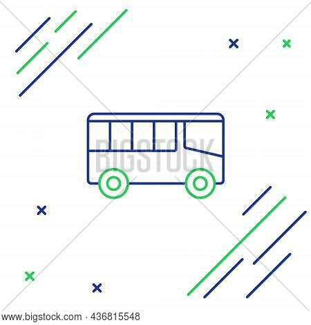 Line Bus Icon Isolated On White Background. Transportation Concept. Bus Tour Transport Sign. Tourism