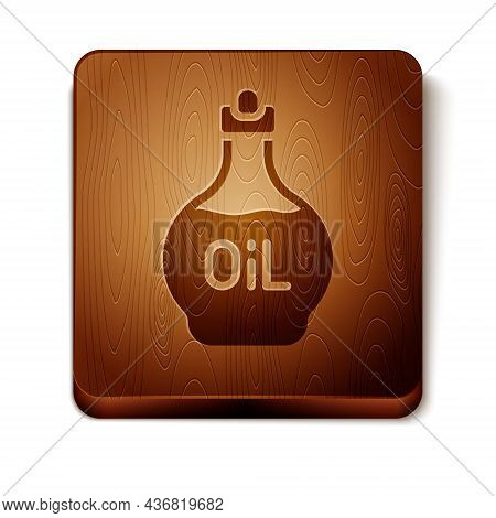 Brown Essential Oil Bottle Icon Isolated On White Background. Organic Aromatherapy Essence. Skin Car