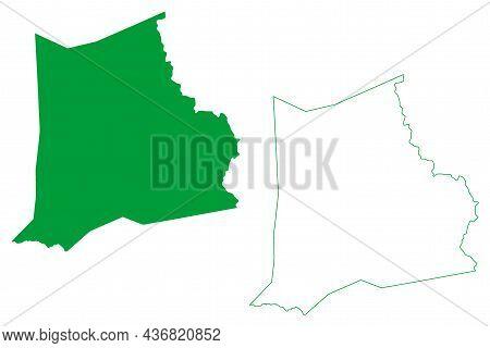 Boquira Municipality (bahia State, Municipalities Of Brazil, Federative Republic Of Brazil) Map Vect