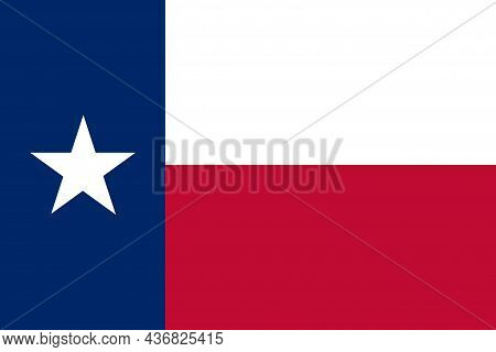 The State Flag Of Texas Is In The South Central Region Of The United States