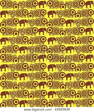 The pattern with elephants