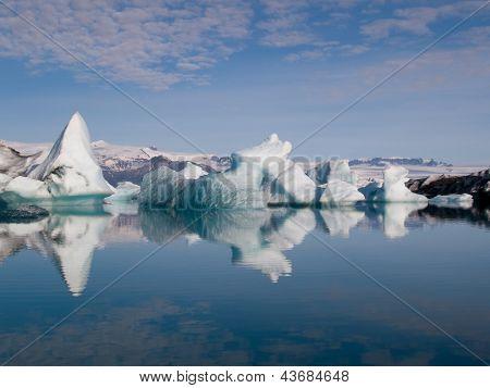 Icebergs On The Sea
