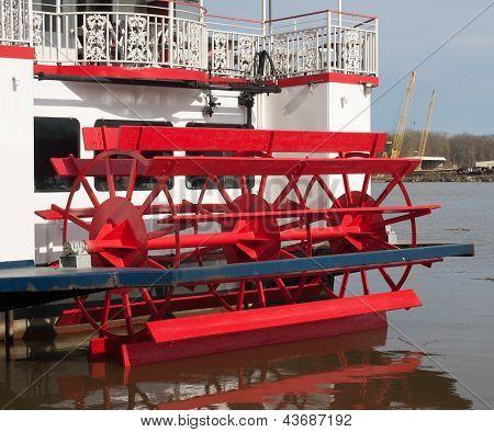 Paddlewheel On Back Of Ship