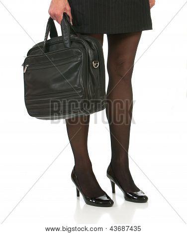 Beautiful legs of Business woman