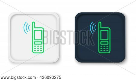Line Smartphone With Free Wi-fi Wireless Connection Icon Isolated On White Background. Wireless Tech