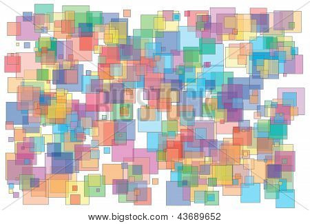 Background Made Of Various Size And Color Transparent Squares