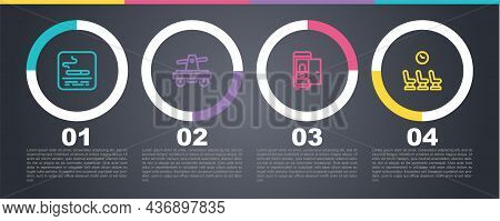 Set Line Smoking Area, Draisine Or Handcar, Toilet The Train And Waiting Room. Business Infographic