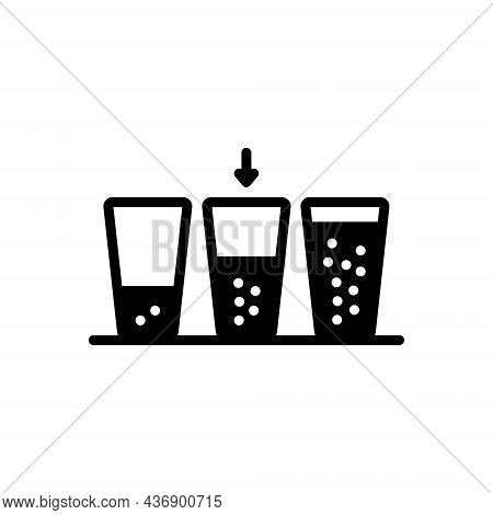Black Solid Icon For Medium Means Intermediate Between Glass Beverage Water-glass Aqua