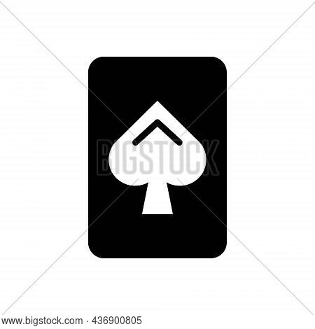 Black Solid Icon For Holdem Cards Casino Gamble Poker Betting Game Play