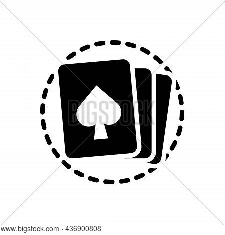 Black Solid Icon For Holdem Cards Casino Gamble Poker Betting Game