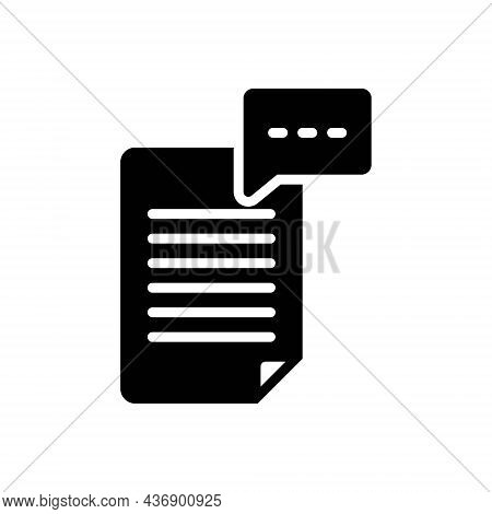 Black Solid Icon For Phrase Phrase Idiom Sentence Clause Text Message