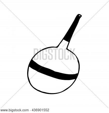 Enema Medical Hand Drawn Doodle. Vector, Scandinavian, Nordic, Minimalism Monochrome Icon Treatment