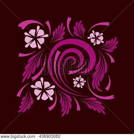 Folk Flowers Floral Art Print Flowers Abstract Art