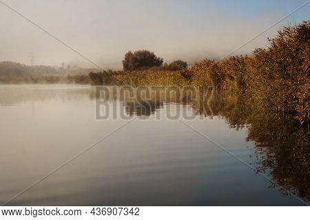 Beautiful Lake Morning View, Sacalaia In Transilvania