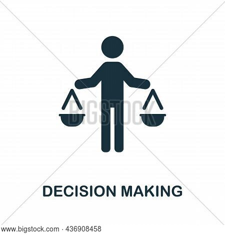Decision Making Icon. Monochrome Sign From Corporate Development Collection. Creative Decision Makin
