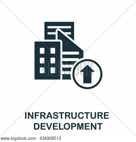 Infrastructure Development Icon. Monochrome Sign From Corporate Development Collection. Creative Inf