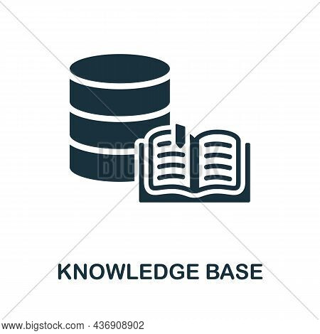 Knowledge Base Icon. Monochrome Sign From Customer Relationship Collection. Creative Knowledge Base