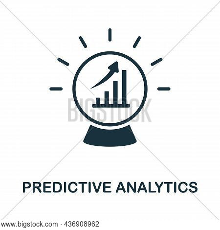 Predictive Analytics Icon. Monochrome Sign From Customer Relationship Collection. Creative Predictiv