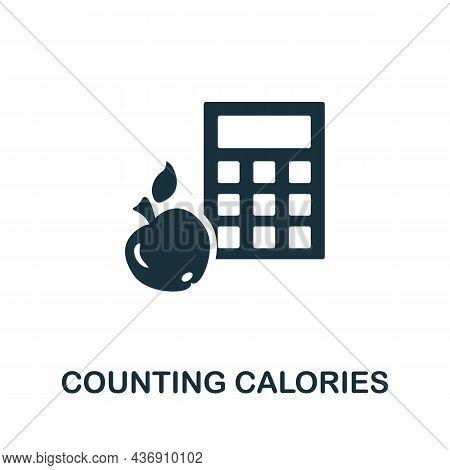 Counting Calories Icon. Monochrome Sign From Diet Collection. Creative Counting Calories Icon Illust