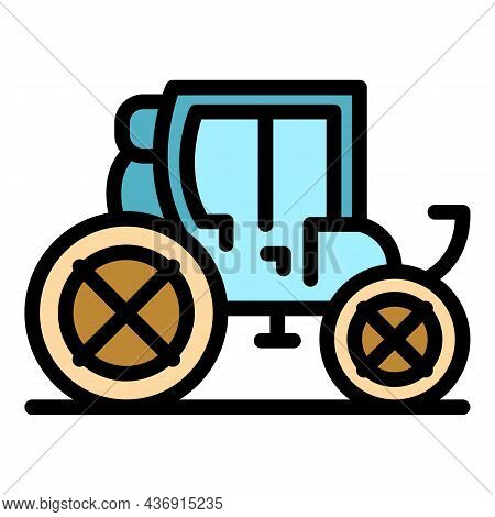 Carriage Transport Icon. Outline Carriage Transport Vector Icon Color Flat Isolated