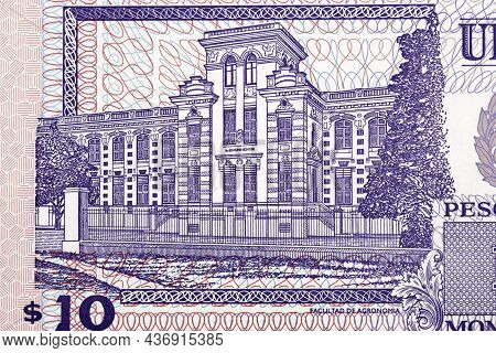 Agronomy Building From Uruguayan Money - Pesos