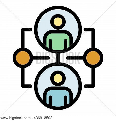 Ai Research Icon. Outline Ai Research Vector Icon Color Flat Isolated