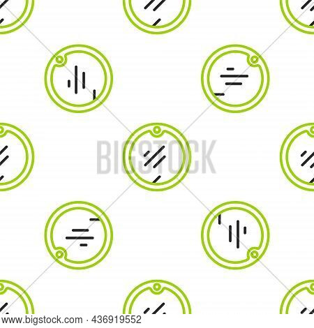 Line Cutting Board Icon Isolated Seamless Pattern On White Background. Chopping Board Symbol. Vector