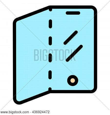 Touch Flex Screen Icon. Outline Touch Flex Screen Vector Icon Color Flat Isolated