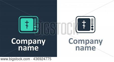 Logotype Online Church Pastor Preaching Video Streaming Icon Isolated On White Background. Online Ch