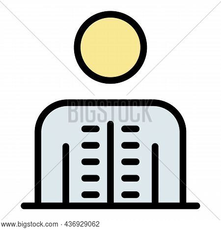 Healthy Spine Icon. Outline Healthy Spine Vector Icon Color Flat Isolated