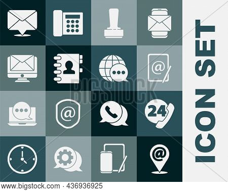 Set Location And Mail And E-mail, Telephone 24 Hours Support, Mail, Stamp, Address Book, Monitor Env