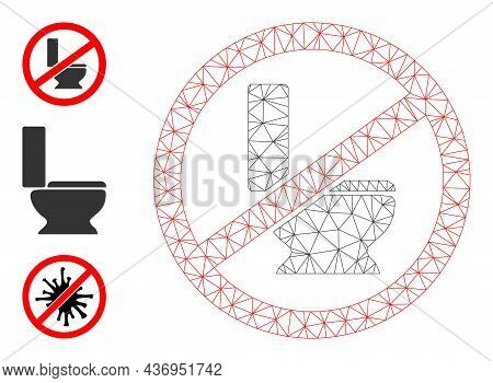 Web Carcass No Toilet Seat Vector Icon, And Source Icons. Flat 2d Carcass Created From No Toilet Sea