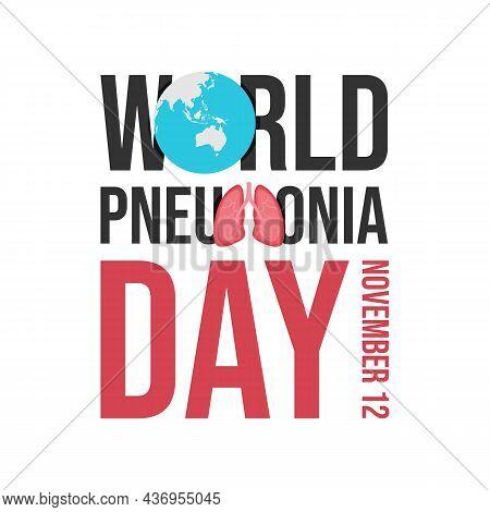 World Pneumonia Day Design Vector