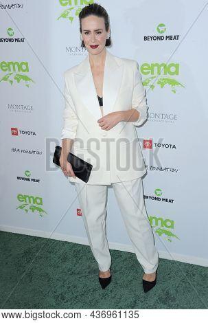 Sarah Paulson at the Environmental Media Association (EMA) Awards Gala held at the GEARBOX LA in Los Angeles, USA on October 16, 2021.