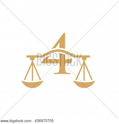 Law Firm Logo Design On Letter 4. Lawyer And Justice, Law Attorney, Legal, Lawyer Service, Law Offic