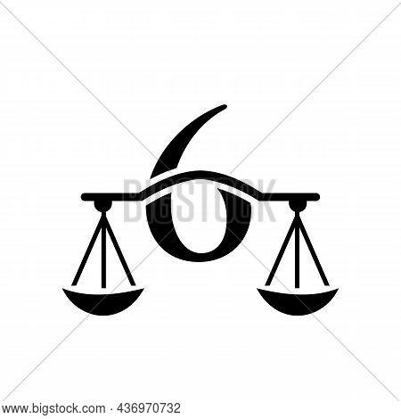 Law Firm Logo Design On Letter 6. Lawyer And Justice, Law Attorney, Legal, Lawyer Service, Law Offic