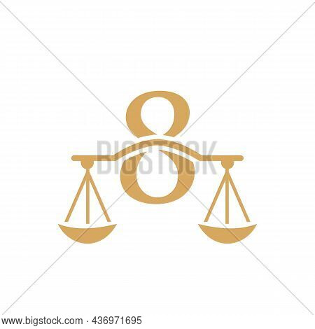 Law Firm Logo Design On Letter 8. Lawyer And Justice, Law Attorney, Legal, Lawyer Service, Law Offic