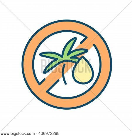 Avoid Palm Tree Oil Rgb Color Icon. Reducing Food Preservatives Intake. Minimizing Processed Foods.
