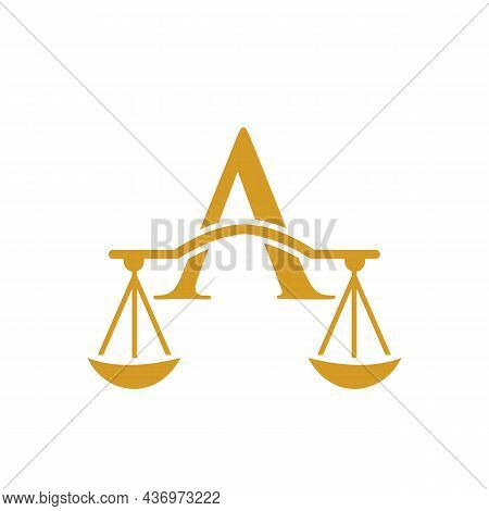 Law Firm Logo Design On Letter A. Lawyer And Justice, Law Attorney, Legal, Lawyer Service, Law Offic