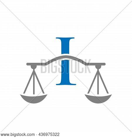 Law Firm Logo Design On Letter I. Lawyer And Justice, Law Attorney, Legal, Lawyer Service, Law Offic