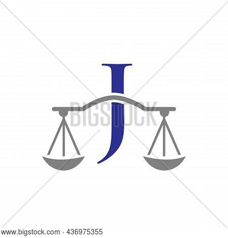 Law Firm Logo Design On Letter J. Lawyer And Justice, Law Attorney, Legal, Lawyer Service, Law Offic
