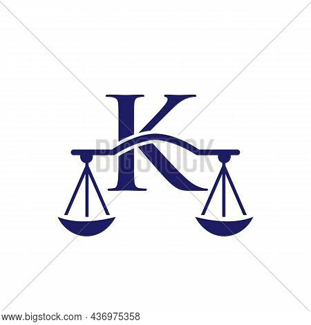 Law Firm Logo Design On Letter K. Lawyer And Justice, Law Attorney, Legal, Lawyer Service, Law Offic